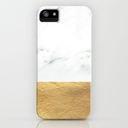 Color Blocked Gold & Marble iPhone Case