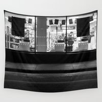 edinburgh Wall Tapestries featuring Shop window Edinburgh by RMK Creative