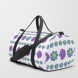 Blue and Purple Pattern Duffle Bag