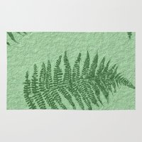 fern Area & Throw Rugs featuring Fern by Mr and Mrs Quirynen