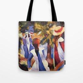 Girls Under Trees, August Macke, 1914 Tote Bag
