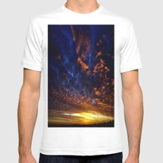 sky Mens Fitted Tee MEDIUM White