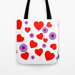 Hearts & Flowers Tote Bag