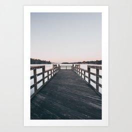 Fog On The Pier Art Print