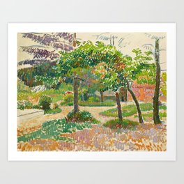 "Camille Pissarro ""Jardin à Éragny"" Art Print"