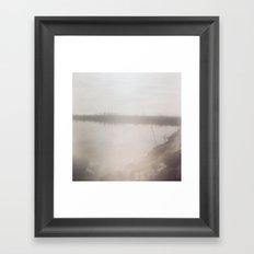 somewhere between the north and south shore  Framed Art Print