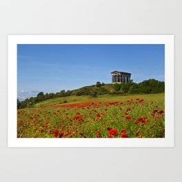 Penshaw Monument Poppys Art Print