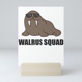 Team Walrus Funny Walrus Squad Mini Art Print