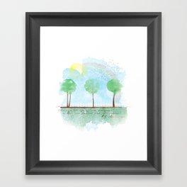 Always it's spring Framed Art Print