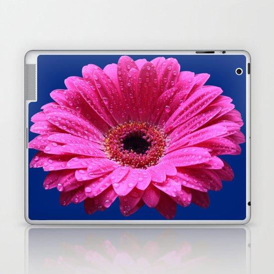 Pink Gerbera Abstract Laptop & iPad Skin