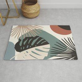 Minimal Yin Yang Monstera Fan Palm Finesse #1 #tropical #decor #art #society6 Rug