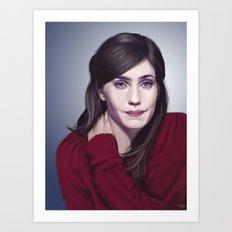 Laura Verlinden, Belgian actress Art Print