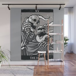 Skeleton Tarot Devil Wall Mural