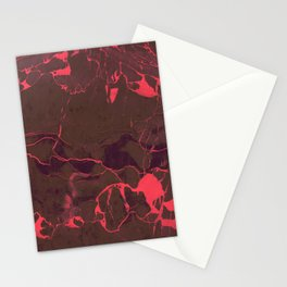 Grey Marble and Coral Stationery Cards
