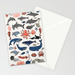 Ocean Animals  Stationery Cards