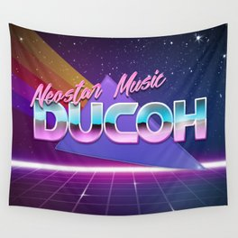 80's Style Logo Wall Tapestry