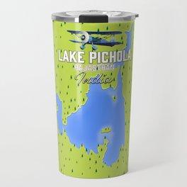 lake Pichola, India travel poster Travel Mug