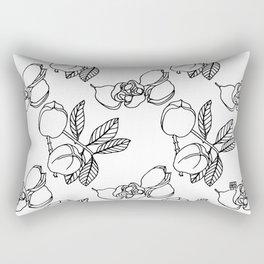 Dancing Cushions - Ackee B&W Rectangular Pillow