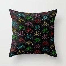 Color Bike Throw Pillow