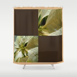 Pale Yellow Poinsettia 1 Blank Q3F0 Shower Curtain