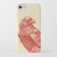 raven iPhone & iPod Cases featuring Red Raven  by Terry Fan