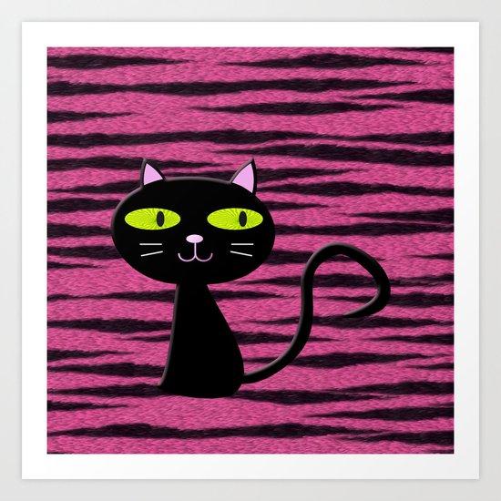 tiger kitty Art Print