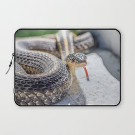 Garter snake with its tongue out Laptop Sleeve