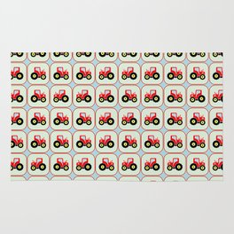 Toy tractor pattern Rug