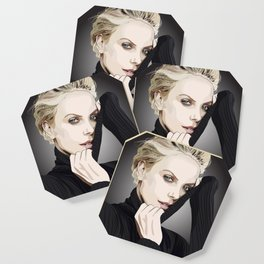 "Charlize Theron ""Rotoscoping"" Coaster"