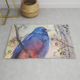 Just Be: Red-Bellied Bunting Rug