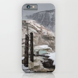 Canary Springs at Yellowstone National Park iPhone Case