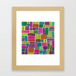 Patchwork Pattern Framed Art Print