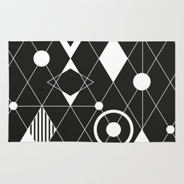 Black and white graphic Rug