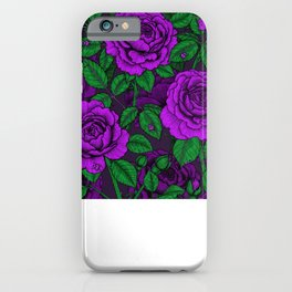 Purple roses iPhone Case