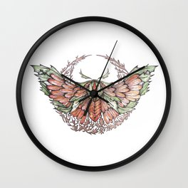 The Forest Moth Wall Clock