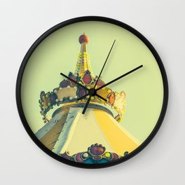 Big Top Kitschy Carnival Ride Wall Clock
