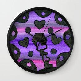 Love Bombin (In Purples) Wall Clock
