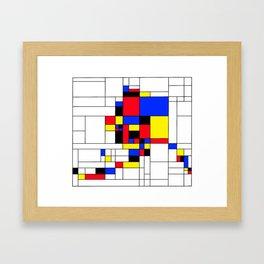 Alaska, Mondrian Style Framed Art Print
