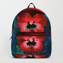 9 red on blue & green Backpack