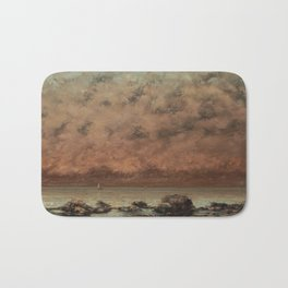 Gustave Courbet The Black Rocks at Trouville 18651866 Painting Bath Mat