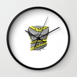 Six Pack - Under Construction Wall Clock