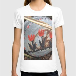Tulips on an oil pan T-shirt
