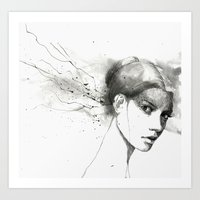 marina Art Prints featuring Marina by Veronica Cosimetti Art