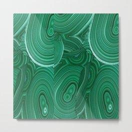Green Malachite Nature Pattern Design Abstract Metal Print