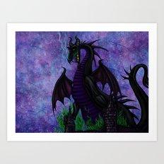 Dragon Maleficent Art Print
