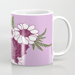 Roses Daisy Dusty Purple Coffee Mug