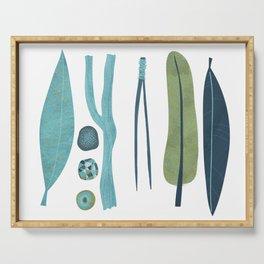 Sticks and Stones Illustration Serving Tray