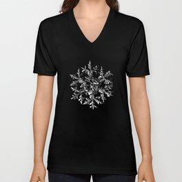 Snowflake vector - Gardeners dream black Unisex V-Neck