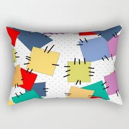 Multi-colored flaps Rectangular Pillow