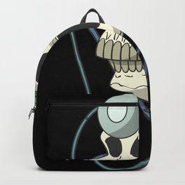 Skull with doctor head lamp Backpack